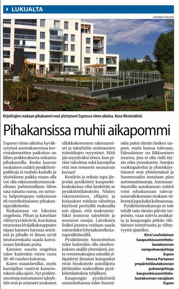 Pihakansissa_muhii_aikapommi_Länsiväylä 13.08.2014